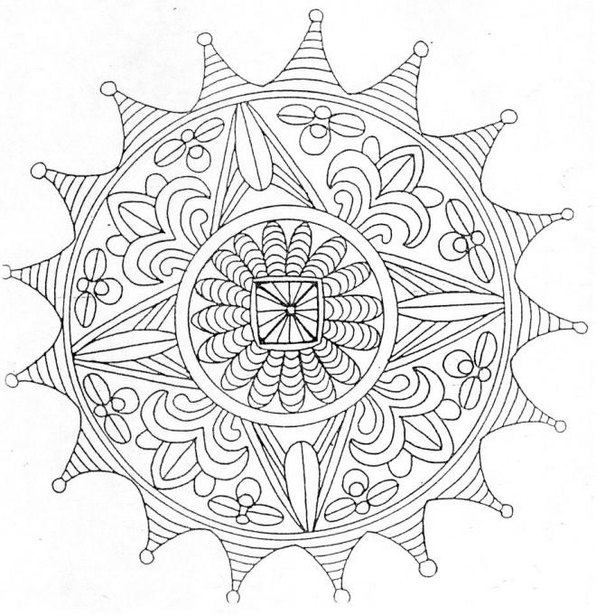 Coloriage et dessins gratuits Mandala Difficile adulte à imprimer