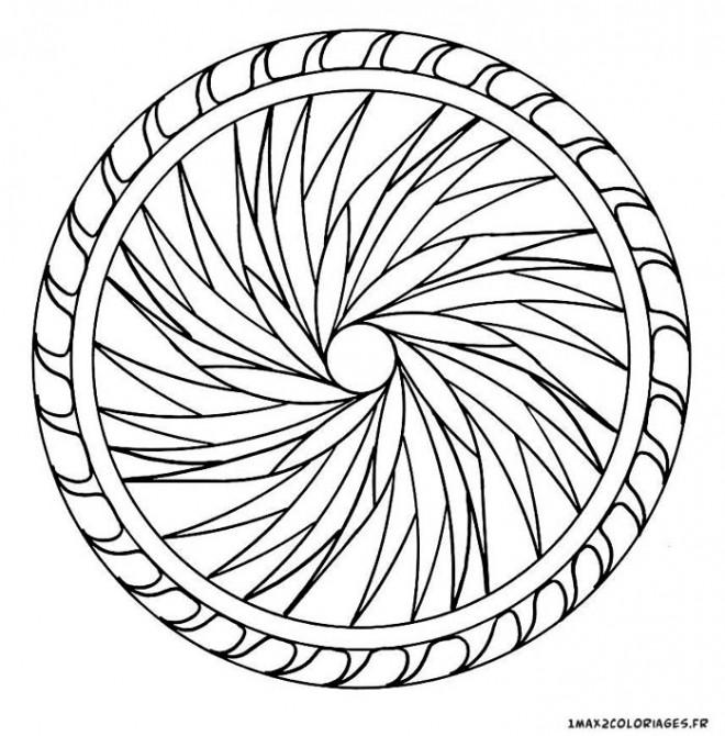 Coloriage et dessins gratuits Mandala Difficile dimensionnel à imprimer