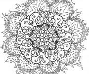 Coloriage et dessins gratuit Mandala Difficile Flamme à imprimer