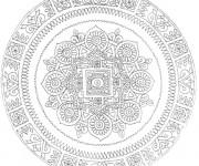 Coloriage et dessins gratuit Mandala Difficile indien à imprimer