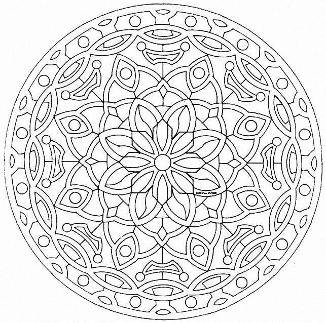 Coloriage et dessins gratuits Mandala Difficile printemps à imprimer