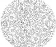 Coloriage et dessins gratuit Mandala Fleurs décorés à imprimer