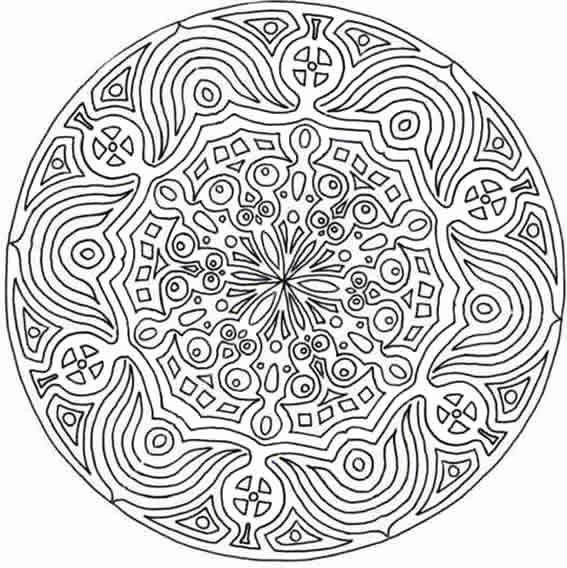 Coloriage et dessins gratuits Mandala pour grands en couleur à imprimer