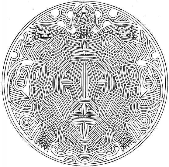 Coloriage et dessins gratuits Mandala Tortue à imprimer