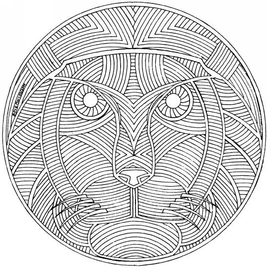 Coloriage et dessins gratuits Mandalas Difficile Animaux à imprimer