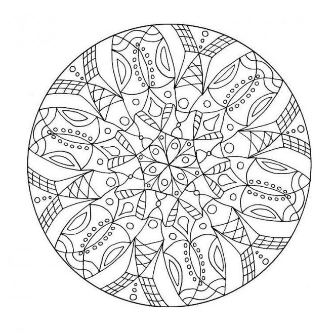 Coloriage Adulte Mandala Fleur Difficile Dessin Gratuit à