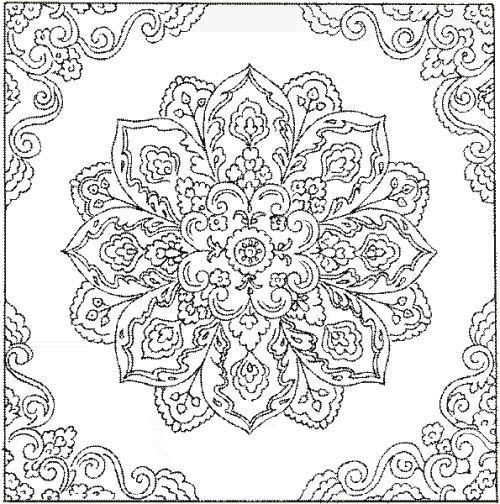 Coloriage et dessins gratuits Difficile mandala fleuri pour adulte à imprimer