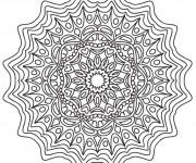 Coloriage Les Fleurs Mandalas stylisé