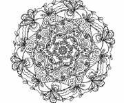 Coloriage et dessins gratuit Mandala complexe pour les grands à imprimer