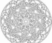 Coloriage et dessins gratuit Mandala Difficile sur ordinateur à imprimer