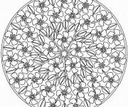 Coloriage et dessins gratuit Mandala Difficile Tiare à imprimer