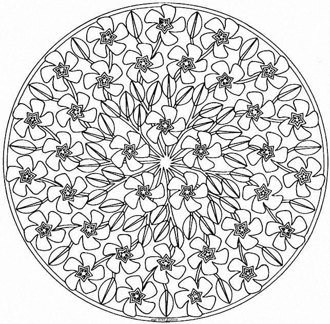 Coloriage Mandala Difficile Tiare Dessin Gratuit à Imprimer