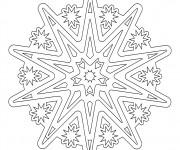 Coloriage et dessins gratuit Mandala en ligne pour Les Grands à imprimer