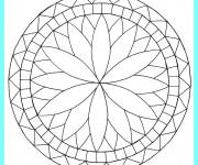 Coloriage et dessins gratuit Mandala Facile à imprimer