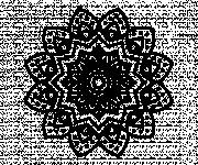 Coloriage Mandala Fleur Art en noir