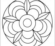Coloriage et dessins gratuit Mandala Fleur couleur à imprimer