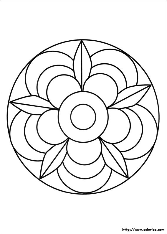 Coloriage et dessins gratuits Mandala Fleur couleur à imprimer