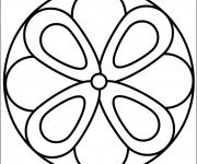 Coloriage Mandala Fleur Facile