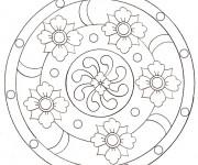 Coloriage Mandala Fleuri pour Adulte