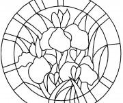 Coloriage dessin  Mandala Fleurs 3