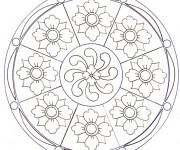 Coloriage Mandala Fleurs Adulte