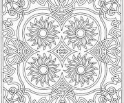 Coloriage et dessins gratuit Mandala Fleurs au centre à imprimer