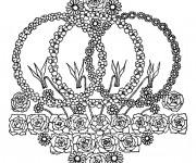 Coloriage et dessins gratuit Mandala Fleurs au jardin à imprimer