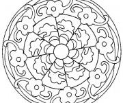 Coloriage Mandala Fleurs En Ligne