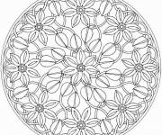 Coloriage Mandala Fleurs et Nature