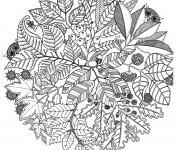 Coloriage Mandala Fleurs et Plantes