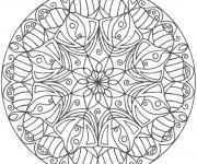 Coloriage Mandala Fleurs pour les Grands