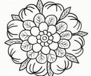 Coloriage et dessins gratuit Mandala Fleurs sympathique à imprimer