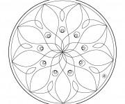 Coloriage et dessins gratuit Mandala Fleurs vecteur à imprimer