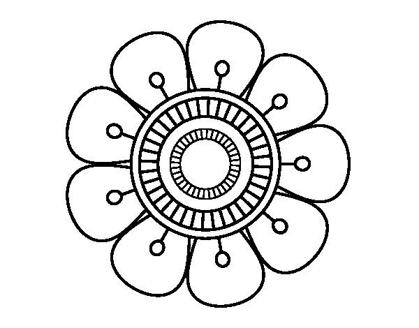 Coloriage et dessins gratuits Mandala Petite Fleur à imprimer