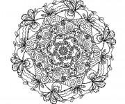 Coloriage et dessins gratuit Mandala pour les grands à imprimer