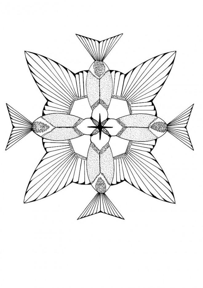 Coloriage et dessins gratuits Mandalas Animaux Artistique à imprimer