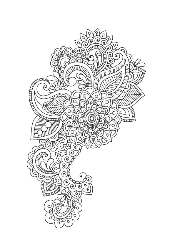 Coloriage et dessins gratuits Mandalas Fleurs à découper à imprimer