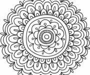 Coloriage Mandalas Fleurs adorable