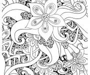 Coloriage Mandalas Fleurs Anti-Stress