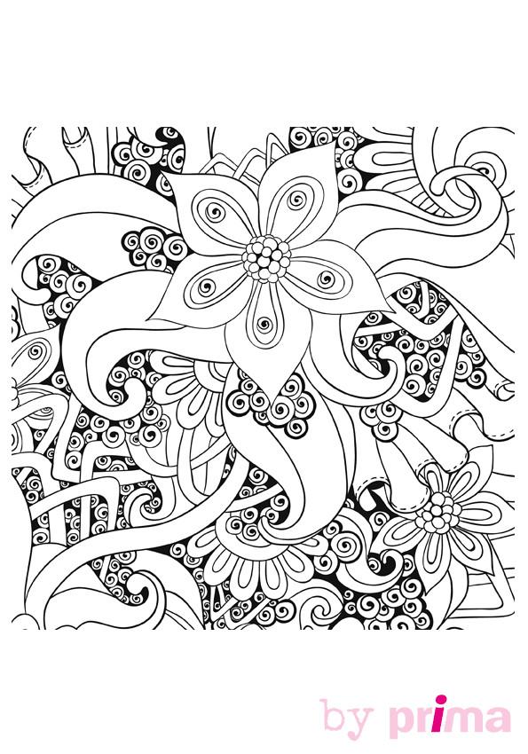 Coloriage Anti Stress Facile A Imprimer.Coloriage Mandalas Fleurs Anti Stress Dessin Gratuit A Imprimer