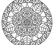 Coloriage Mandalas Fleurs Art Thérapeutique