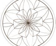 Coloriage Mandalas Fleurs au crayon