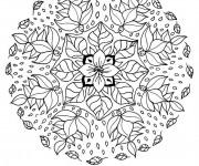 Coloriage Mandalas Fleurs couleur