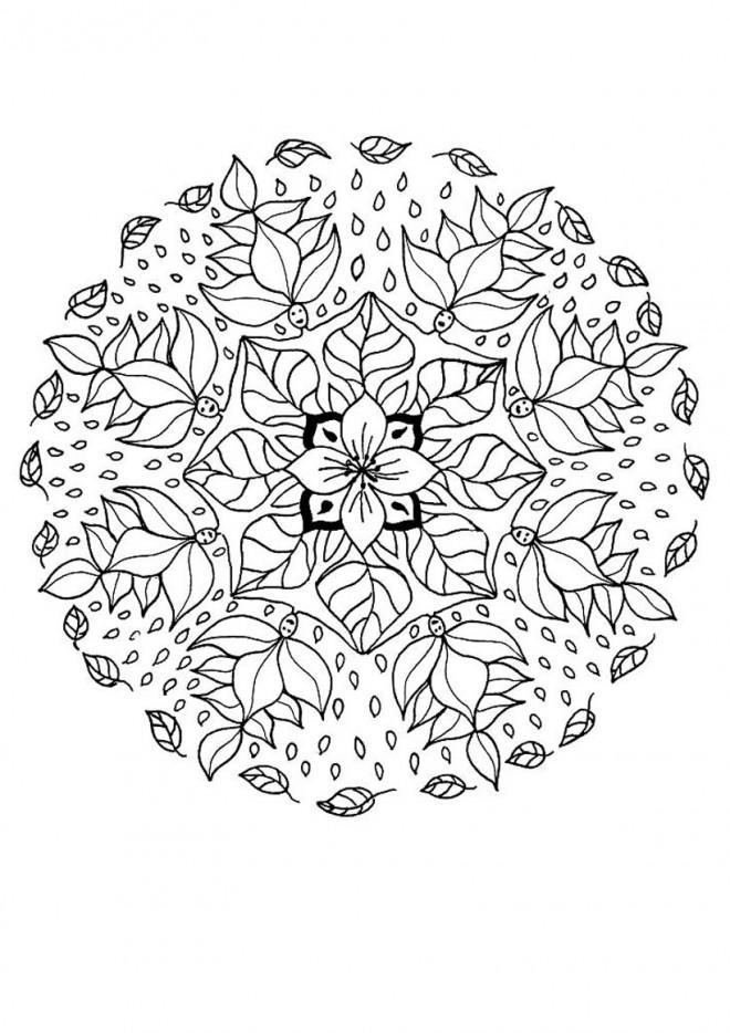 Coloriage Mandalas Fleurs Couleur Dessin Gratuit à Imprimer