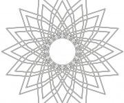 Coloriage Mandalas Fleurs couleur facile