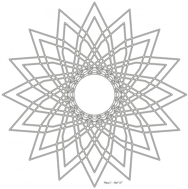 Coloriage et dessins gratuits Mandalas Fleurs couleur facile à imprimer