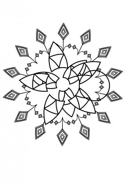 Coloriage et dessins gratuits Mandalas Fleurs de Vie à imprimer