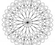 Coloriage Mandalas Fleurs en ligne