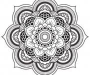 Coloriage Mandalas Fleurs en vecteur