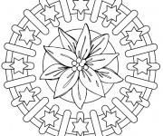 Coloriage Mandalas Fleurs et Étoiles